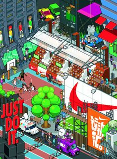 MLK-Nike Game Cover, 2012. eBoy, Milk magazine, Hong Kong; digital. Image courtesy of TASCHEN.