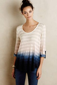Dipped Stripe Top - anthropologie.com