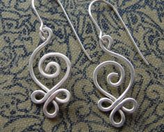 Celtic Sterling Silver Wire Earrings  Budding by nicholasandfelice