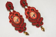 Soutache Ear Clips - Mystic Silhouette | by BeadsRainbow