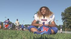 Cynthia Brown says she never thought she'd be known for playing football. Ironically enough, the senior kicker for the Wilson High School football team is believed to be the first girl in Virginia history to throw a touchdown pass in a varsity game. Her football days will end once the fall season wraps up. She's earned a full scholarship to play soccer at Radford Univerisity.