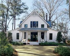 Exterior Front  Southern Living White Plains house plan. Need to change around the first floor to eliminate the 2nd master BR and add dining and office. 2942 sq ft