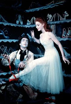The Red Shoes (1948): Leonide Massine and Moira Shearer.