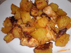 Kuřecí s bramborem na plechu