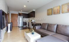 2 Bedroom Condo for Rent at 59 Heritage  -  Get information of this rental & other available apartments or condos for rent, go to http://www.homeconnectthailand.com/condo-buildings-a-to-z/  This swanky 67-square meter condo for rent at 59 Heritage accommodates two bedrooms, two bathrooms, and a chill-out balcony. Swathed in beige and brown hues, this freehold unit has teak laminate flooring, pristine walls, and floor to ceiling glass windows that usher enough ventilation a