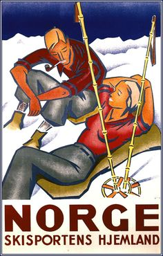 1936 Norge Skisportens Hjemland by Gert Jynge and Bjarne Engebret