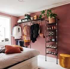At RackBuddy we have a wide variety of racks and shelves. Aesthetic Room Decor, Space Saving Apartment, Home Decor Bedroom, Bedroom Makeover, Small Apartment Interior, Diy Home Decor Bedroom, Studio Apartment Decorating, Apartment Inspiration, Aesthetic Bedroom