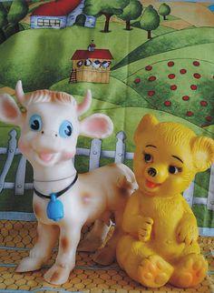 Vaquinha Mu-Mu e Urso Bimbão brinquedos Estrela anos 70