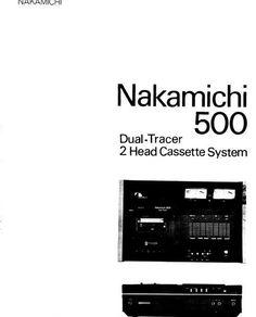 nakamichi 700 zxl original service manual nakamichi service rh pinterest com Nakamichi Headphones Nakamichi Car Audio