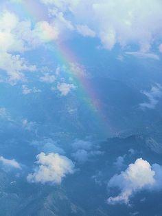 Rainbow over Jamaica's Blue Mountains (my own photo)