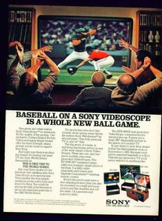 Sony VideoScope Projection Television TV (1983)