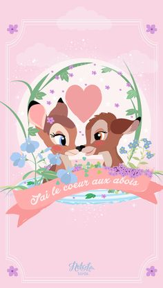 Phone & Celular Wallpaper : Bambi Find more Cute Disney wallpapers for your iPhone Wa Disney Love, Disney Magic, Disney Art, Disney Pixar, Disney Characters, Disney Princesses, Bird Wallpaper, Wallpaper Iphone Disney, Cute Disney Wallpaper