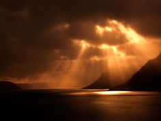 sun beams in northern ireland