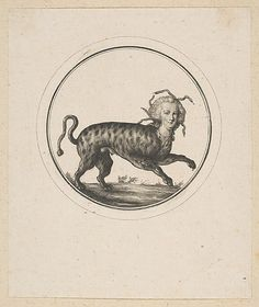 Caricature Showing Marie Antoinette as a Leopard Anonymous, French, 18th century