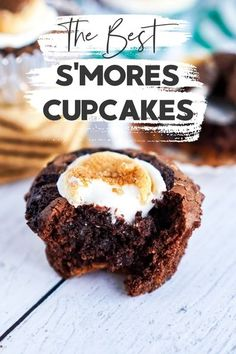 These are The Best S'Mores Cupcakes you will ever eat and they are a perfect treat for camp-themed parties or the star dessert at your next gathering! #Smores #Cupcakes #Recipe #SmoresRecipe #SmoresCupcakes via @xtremecouponmom