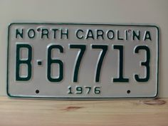 1976+North+Carolina+Rat+Rod+License+Plate+Tag+NC+#B-67713+YOM
