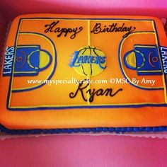 MSC's Lakers Themed Cake