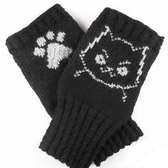 Ravelry: Mad Cat Handwarmers pattern by Kat Lewinski