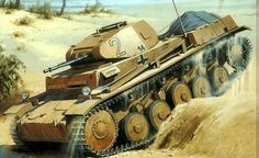 German light tank Panzer II in North Africa. Tank has 20 mm auto-cannon. Panzer Ii, Military Drawings, Tank Armor, Ww2 Pictures, War Thunder, Military Armor, Ww2 Tanks, World Of Tanks, Armored Vehicles