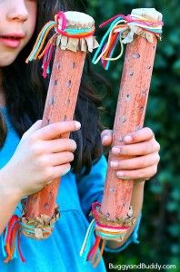 Homemade Musical Instruments for Kids - Buggy and Buddy - Rainstick Craft for Kids (and Science Activity)- Explore sound with a homemade instrument! Kids Crafts, Summer Crafts, Preschool Crafts, Projects For Kids, Diy For Kids, Toddler Crafts, Summer Diy, Craft Activities, Fall Crafts