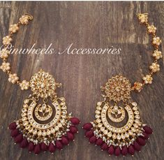 bridal jewelry for the radiant bride Indian Jewelry Earrings, Indian Jewelry Sets, Jewelry Design Earrings, Indian Wedding Jewelry, Bridal Jewelry, Jewlery, India Jewelry, Antique Jewellery Designs, Fancy Jewellery