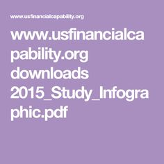 FINRA | Financial Capability Infographic | #econed #personalfinance Personal Finance, Infographic, Information Design