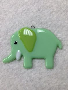 Elephant Fused Glass Ornament by HHQuiltingandGlass on Etsy