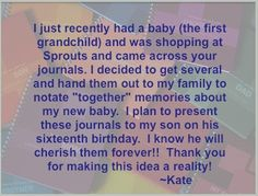 Great idea Kate .... Thanks! Gifts For New Parents, Relationship Problems, I Decided, Having A Baby, New Baby Products, Meant To Be, Personalized Gifts, Thankful, Letters