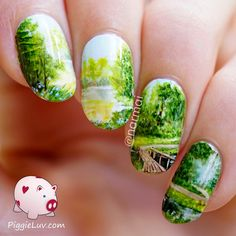 Freehand 'Path to serenity' nail art ~ detailed video tutorial ~ by PiggieLuv