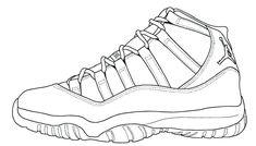 "Announced: Air Jordan 11 Retro ""Legend Blue"" - EU Kicks: Sneaker Magazine Air Jordan Xi, Coloring Pages To Print, Coloring Books, Free Coloring, Jordan Coloring Book, White Jordan Shoes, Shoe Template, Piping Templates, Sneakers Sketch"