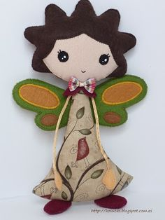 Fairy cloth and fabric doll by Kosucas.