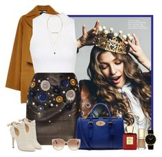 """Queen for the day"" by rachel ❤ liked on Polyvore featuring Rosetta Getty, Topshop, Topshop Unique, Mulberry, Jimmy Choo, MAC Cosmetics, Dolce&Gabbana, Bella Bellissima, Larsson & Jennings and H&M"