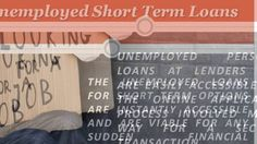Unemployed Loans in the UK