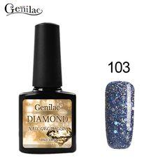 Genilac Diamond 10ml1pcs Nail Gel Polish UV Nail Gel Lacquer UV Soak Off  Gel bluesky quality Use With Base Top Gel Need UV Lamp