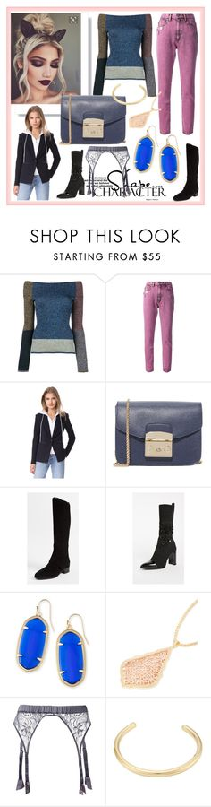 """Classy and fashion"" by denisee-denisee ❤ liked on Polyvore featuring Christopher Kane, Marc Jacobs, Veronica Beard, Furla, Tory Burch, Stuart Weitzman, Kendra Scott, Fleur of England and Jennifer Fisher"
