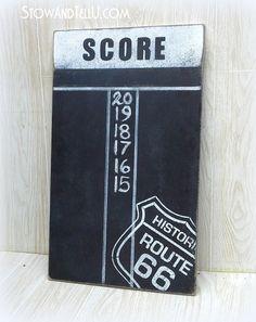 chalkboard-paint-route-66-diy-dartboard-scoreboard-game-room-art-http://stowandtellu.com