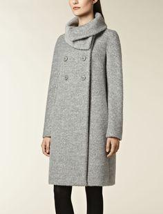 Wool and alpaca coat, medium grey - Max Mara France
