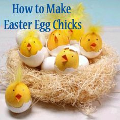 See how to create a nest full of hatching Easter egg chicks that look remarkably real—and adorable! http://www.parents.com/videos/v/70404008/how-to-make-chick-easter-eggs.htm?socsrc=pmmpin130214cEasterEggChicks
