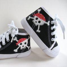 Handmade pirate baby sneakers! Arghhh.