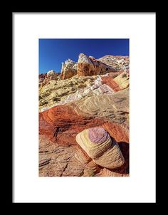 Fantasy Land, Colorful layers of sandstone in the desert of Nevada. Rainbow Vista in Valley of Fire colors, nature, landscape, sandstone, colorful, fantasy, otherworldly, unique, candy land, rocks, hill, rock formation, nevada, desert, usa, pierre leclerc photography, natural wonders, layers, valley of fire, rainbow vista, canon 5dsr
