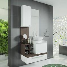 Gabinete Para Banheiro Com Espelheira - Americanas.com