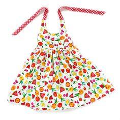 18 to 24 month fruit print halter dress toddler dress girls