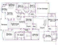 Planes europeos casa de estilo - 3710 pies cuadrados de construcción Home, 1 Piso, 3 dormitorios y 3 3 Baño, 2 Garaje puestos por planes de vivienda del monstruo - Plan de 19-1765