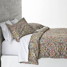 Lucia Full/Queen Duvet Cover | Crate and Barrel
