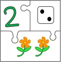 counting-number-puzzles-for-kids « Preschool and Homeschool Preschool Puzzles, Numbers Preschool, Preschool Learning Activities, Learning Numbers, Preschool Worksheets, Kindergarten Math, Kids Learning, Counting For Kids, Math For Kids