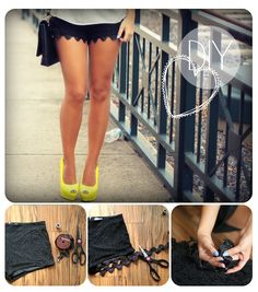 DIY Scalloped Shorts by evelinabarry