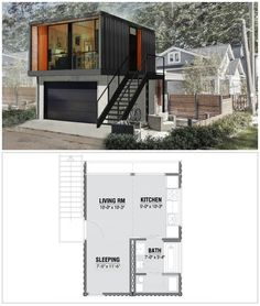 HO2 Prefabricated Homes from Shipping Containers.  Designed by HonoMobo