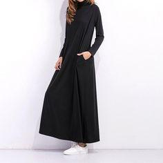 Casual Floor Length Long Sleeve Women Fashion dresses