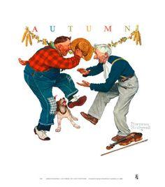 norman rockwell autumn -