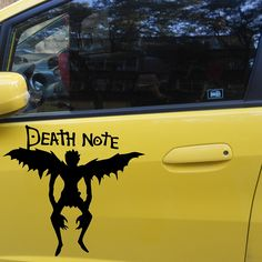 58cm x 54.13cm 2 x Death Note Ryuk Graphical (one For Each Side) Car Sticker For Truck Window Auto Door Vinyl Decal 9 Colors